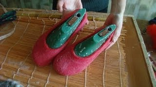 How To Make Felted Wool Shoes And Slippers