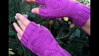 Вязание Спицами - Митенки - 2017 / Knitting - mittens / Stricken - Fäustlinge / Knitting - guanti