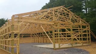 Dream Pole Barn Update July 4, 2016 Amish Built!