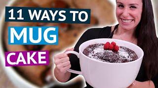 11 EASY Mug Cake Recipes USING ONLY a Microwave ☕🎂
