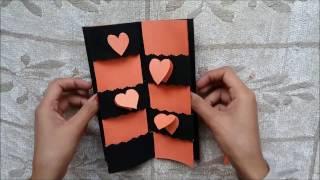 Tarjeta Del Amor Del Mensaje Secreto// Tarjeta Del Corazón Para San Valentín