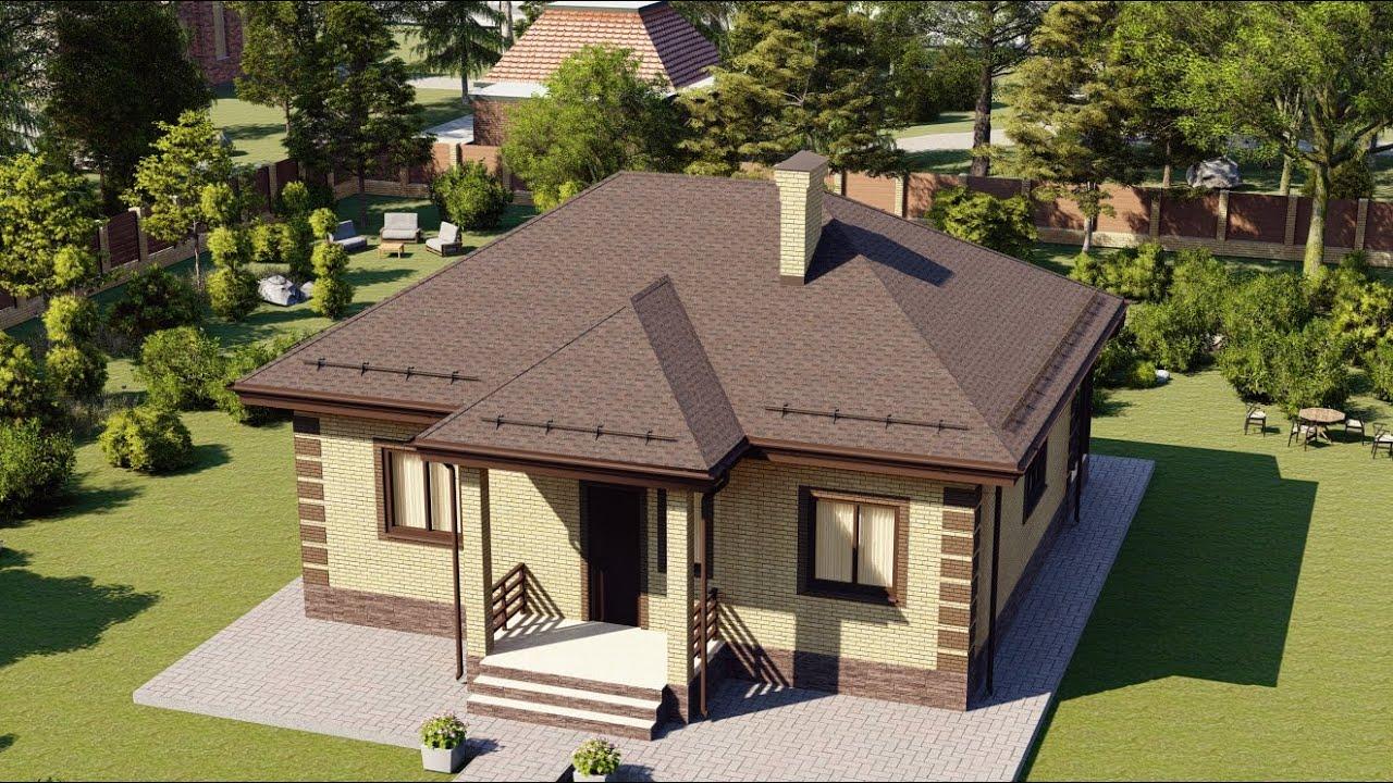 Проект одноэтажного дома из газобетонных блоков