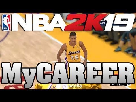 NBA 2K19 My Career Offline - DOUBLE-DOUBLE IN THE 1ST HALF!