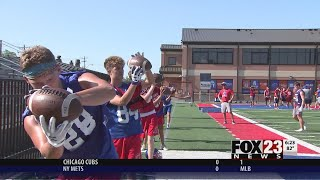 WATCH - Bixby, Sand Springs get ready to start football seasons in Border Brawl