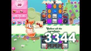 Candy Crush Saga Level 3344 (3 stars, No boosters)