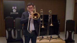Jupiter Trombone ténor complet professionnel verni JTB1150FROQ - Video