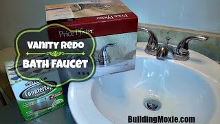 "Installing a 4"" Centerset Lavatory Faucet (& a Vanity Refresh)"