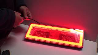 Lampy tylne led diodowe NEON LOOK laweta, przyczepa L1828, L1829