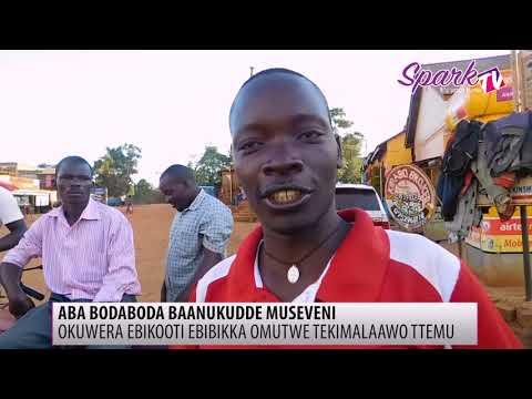 Aba boda boda baanukudde pulezidenti Museveni