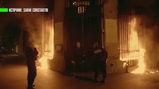 Видеокадры поджога здания Банка Франции художником-акционистом Петром Павленским