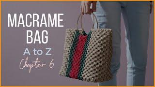 [Eng sub]Macrame Bag A to Z - chapter6 / 마크라메 핸드백 만들기