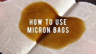 How To Use Micron Bags to Make Better Rosin Press Cannabis eJuice: Cannabasics #91