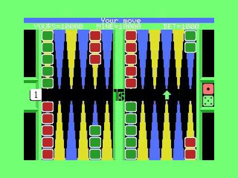 Backgammon (1985, MSX, Tecno Soft)