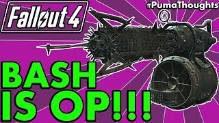 Is Gun Bashing Any Good in Fallout 4 and Is The Basher Perk Worth it? (Bash Damage) #PumaThoughts