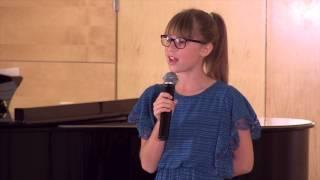 "Georgia Bennett sings ""You Will Be My Music"""