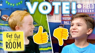 PICK YOUR FAVORITE Sports Room: Football or Baseball? 🏈⚾️ | Get Out Of My Room | Universal Kids