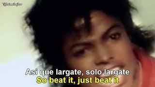 Michael Jackson - Beat It  [Lyrics English - Español Subtitulado]