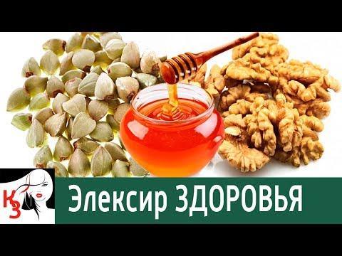Эликсир здоровья. Смесь – гречка, мед, орехи. Средство невероятной пользы