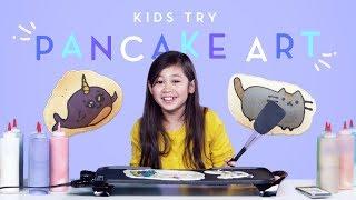 Kids Try Pancake Art | Kids Try | HiHo Kids