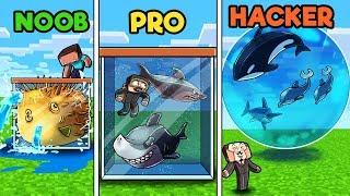 Minecraft - FISH TANK! (NOOB vs PRO vs HACKER)
