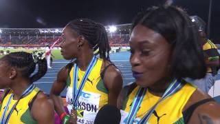 WATCH Jamaican Women Wins the 4X200M Gold at IAAF World Relays 2017