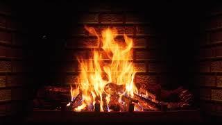 Огонь, камин и Рождественская музыка