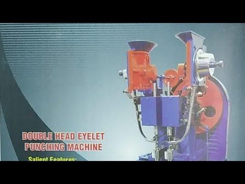 Double Head File Eyelet Machine