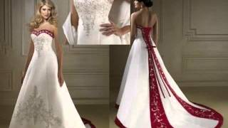 Red & White Wedding Dress - The Color Red