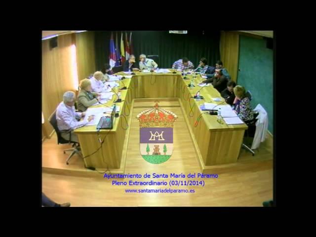 Pleno Extraordinario (3 de noviembre de 2014)