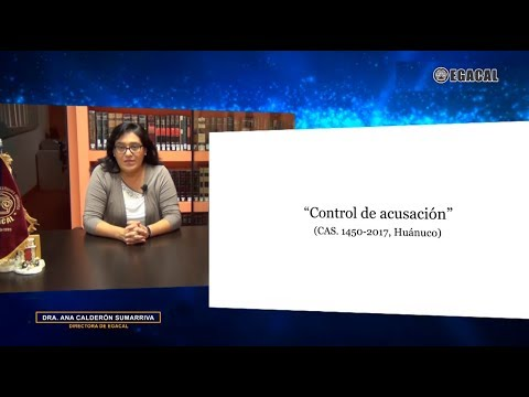 Control de acusación - Cas. 1450-2017-Huánuco - Luces Cámara Derecho 124