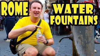 How to drink tap water from Rome's public fountains
