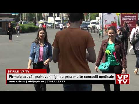 Firmele acuză: prahovenii își iau prea multe concedii medicale