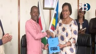 Gender CS Margaret Kobia has officially handed over the State