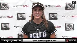 2021 Sydney Thomason - 6 Foot Tall, 3rd Base & Pitcher Softball Skills Video - Firecrackers Miller