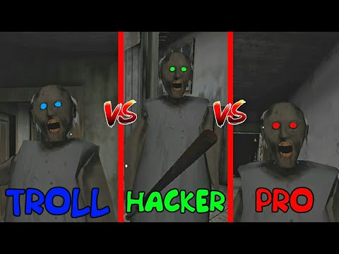 HACKER vs TROLLER vs PRO in GRANNY