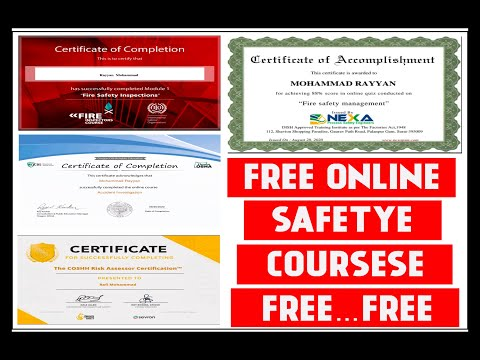 Free Online Safety Courses with Certification - YouTube