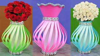 कलर पेपर से बनाये शानदार गुलदस्ता   Wow Making Beautiful Flower Pot With Color Paper   Flower Pot