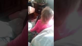 Toddler singing Sucker for Pain