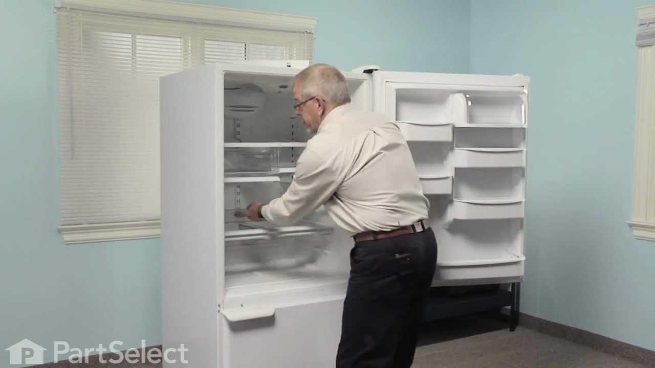 Replacing your Kenmore Refrigerator Refrigerator Center Crisper Drawer Slide Rail - White