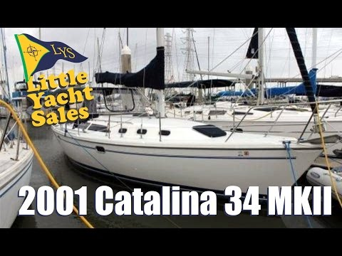 2001 Catalina 34 MKII Sailboat for sale at Little Yacht Sales, Kemah Texas