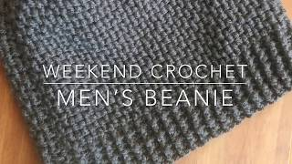 Weekend Crochet: Mens Beanie, Beginner-friendly