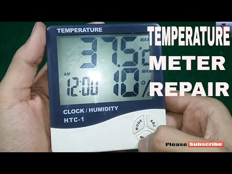 Htc-1 Thermo Hygrometer Repair / Thermometer Clock Humidity / Digital Thermo Hygrometer  /  Digital