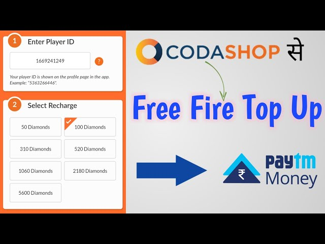 Coda Shop free fire top up