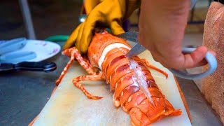 Thai Street Food: $150 GIANT RAINBOW LOBSTER   Bangkok, Thailand