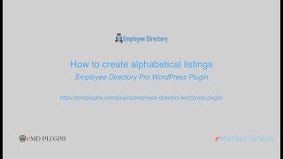 Create alphabetical searches based on employee names, departments and job titles