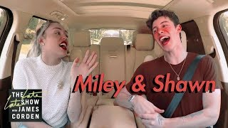 Shawn Mendes & Miley Cyrus Carpool