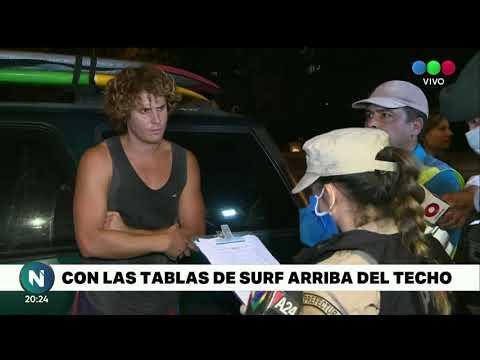 EL SURFER QUE SE ENOJÓ EN UN CONTROL EN LA PANAMERICANA - Telefe Noticias