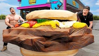 I Built The World's Largest MrBeast Burger