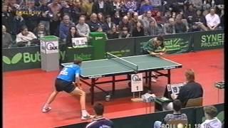 Tischtennis Bundesliga: Jörg Roßkopf vs Timo Boll Feb 1999
