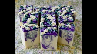 LAVENDER & SAGE~ Making And Cutting Cold Process Soap~